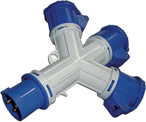 Brennenstuhl 1081583Verteilerstück 3Steckdosen, Stecker und 3x CEE 230V/16A 3-polig (IP44)