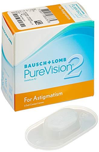 PureVision2 HD for Astigmatism Monatslinsen weich, 6 Stück BC 8.9 mm / DIA 14.5 / CYL -0.75 / Achse 50 / 3 Dioptrien