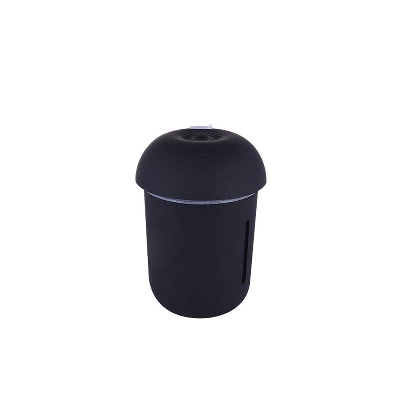 超音速基準著名なZXF クリエイティブ多機能水道メーターファンナイトライトスリーインワンきのこ加湿器usb充電車の空気清浄機美容機器 滑らかである (色 : Black)