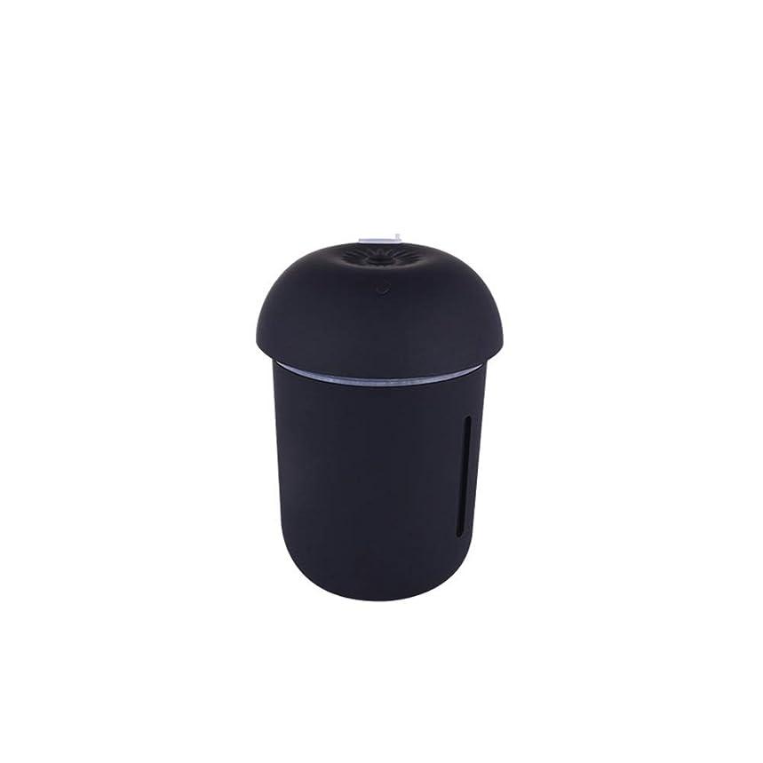 女の子ペンダント戦術ZXF クリエイティブ多機能水道メーターファンナイトライトスリーインワンきのこ加湿器usb充電車の空気清浄機美容機器 滑らかである (色 : Black)