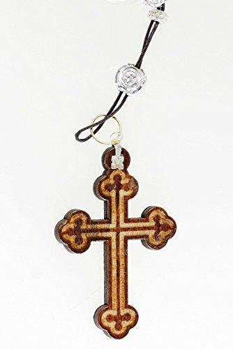 Unbekannt Holzkreuzanhänger Anhänger mit Saugnapf Holzkreuz Schlüsselanhänger Kreuz Kreuzanhänger Jesuskreuz Jesus Christi