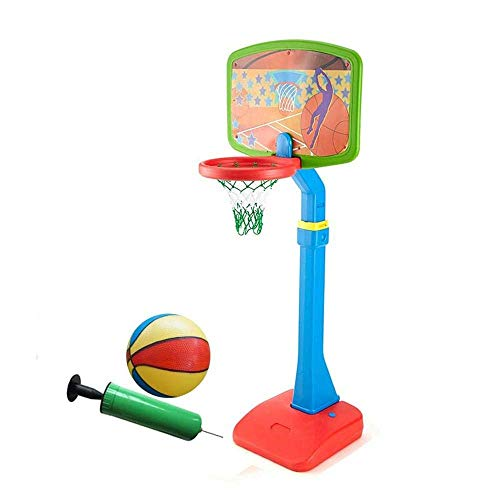 WYJBD Kinder Einstellbare Protable Basketball Set Einstellbare Höhe 112.5-172.5cm Mit Kugel-Netz Basketballkorb for Kinder Juniors Indoor Outdoor Spielen Basketball Tore (Color : B)