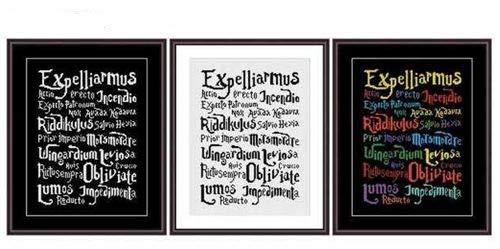 Harry Potter Spell - Juego de punto de cruz (algodón egipcio, 14 hilos, 115 x 150 puntadas, 30 x 38 cm, algodón), diseño de Harry Potter