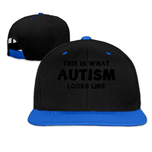 Dit is wat Autism Looks Like Hip Hop Snapback Baseball Hat Adjustable Mens Blue