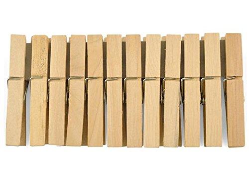 H&H 3960600 Pengo Legno Gig 4 Confezione 12 Molle Biancheria, Marrone, 18x9x2 cm, unità