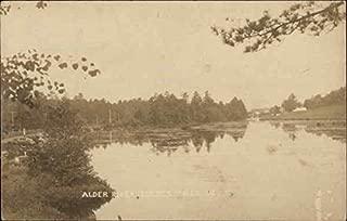 Alder River Lockes Mills Bethel, Maine Original Vintage Postcard