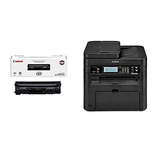 Canon imageCLASS MF236n All in One, Mobile Ready Printer, Black with Original Black Toner Cartridge