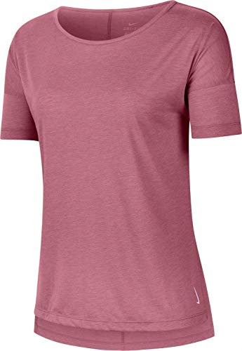 NIKE Camiseta Dri fit Yoga Layer - Rosa L