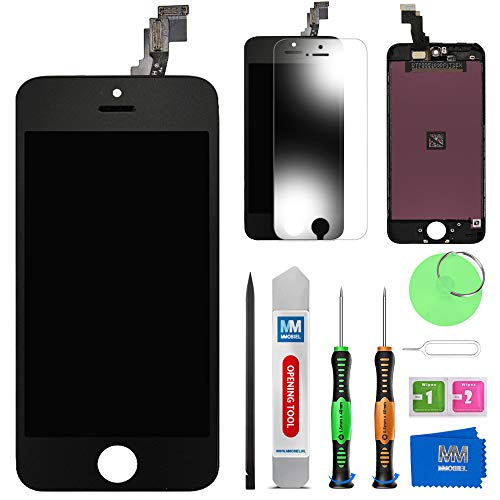 MMOBIEL Schermo tattile LCD Compatibile con iPhone 5C (Nero) Kit assemblaggio Riparazione Professionale con Manuale Semplice