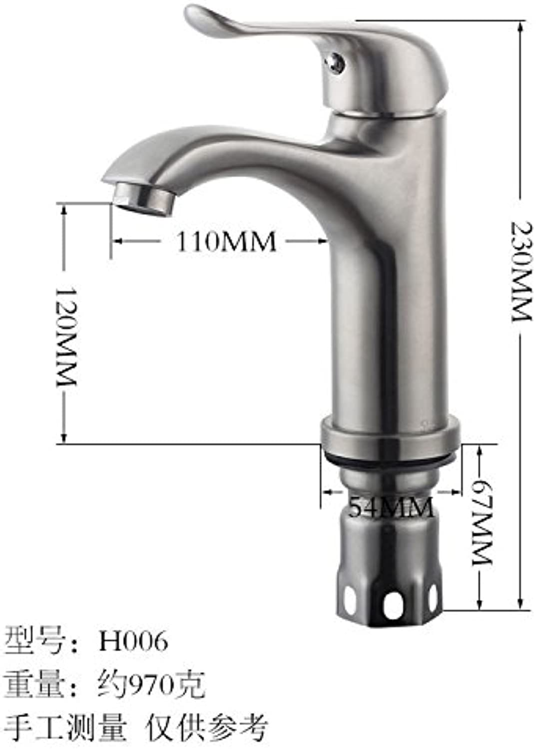 Lpophy Bathroom Sink Mixer Taps Faucet Bath Waterfall Cold and Hot Water Tap for Washroom Bathroom and Kitchen 304 Stainless Steel Brushed Hot and Cold greenical D