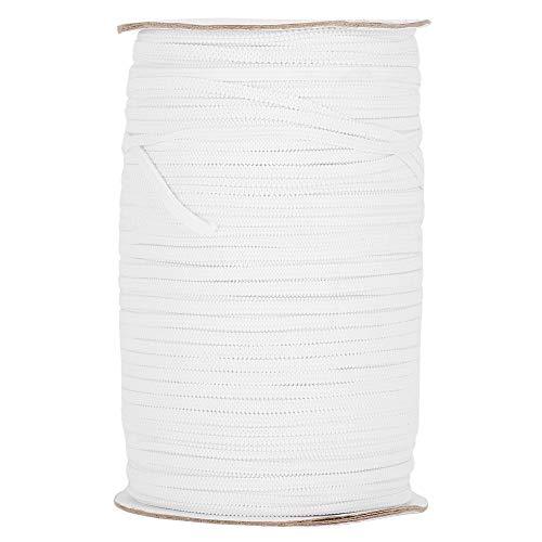 3mm 200 yardas rollo de banda elástica banda de carrete elástica cuerda rollo de cuerda accesorios de ropa de encaje para cinturones de decoración del hogar