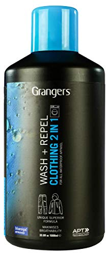 Grangers Clothing Wash and Repel 1 Litre   Clean And Waterproof Your Jacket In 1 Wash   Saves Time   Saves Energy   Saves Money