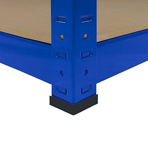 Monster Racking Sparangebot 1 x blaues T-Rax 90cm Eckregaleinheit Eckregal + 2 x blaue T-Rax 90cm Hochleistungsregale Schwerlastregal Lagerregal Garagenregal Stahlregal Industrieregal Werkstattregal S - 9