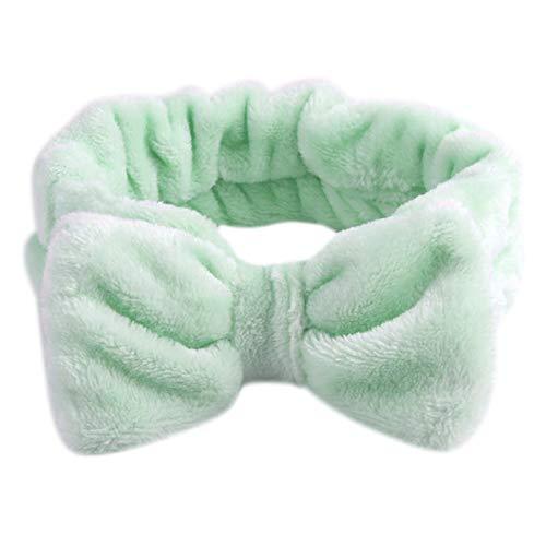 Mentin Bandeau cheveux Femme Pour le maquillage et les soins du visage, Tête de Douche Wrap Hairband Visage SPA élastique (1#)