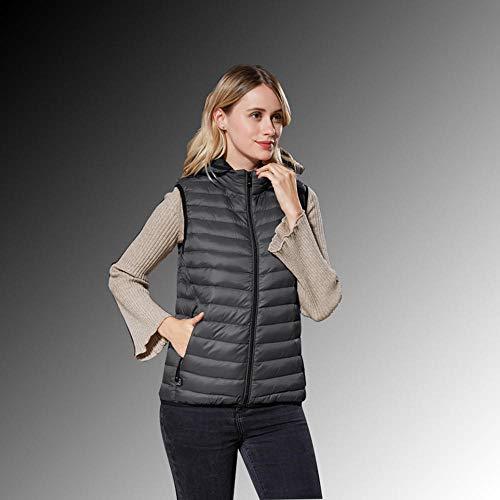cyxb Lavabile Giacca Riscaldabile Invernale,Giacca riscaldante per Moto Gilet Invernale Flessibile per Abbigliamento Termico Elettrico Gilet per Ciclismo Sportivo-Femmina Grigia_6XL