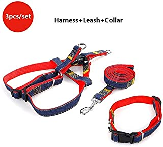 Sets - Adjustable Dog Leash And Harness Set Pet Dog Collar Puppies Supplies Collar for Dog Outdoor Training For Small Dog ...