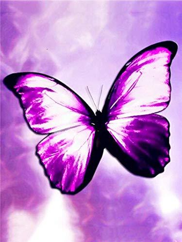 JXWH Animal Papillon Peinturediamant 5d Kit de peinture Strass Diamant Toile idéal Pour la décoration à la Maison/Salon/Chambre/Bureau40X50cm