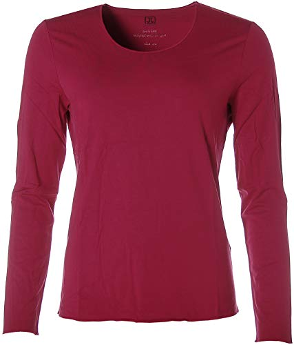 JETTE Joop Basic Langarm Shirt T-Shirt Rundhals 40 rot Cherry