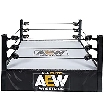 All Elite Wrestling Unrivaled Collection Action Ring - Authentic Action Ring with Flexible Tension Ring Ropes