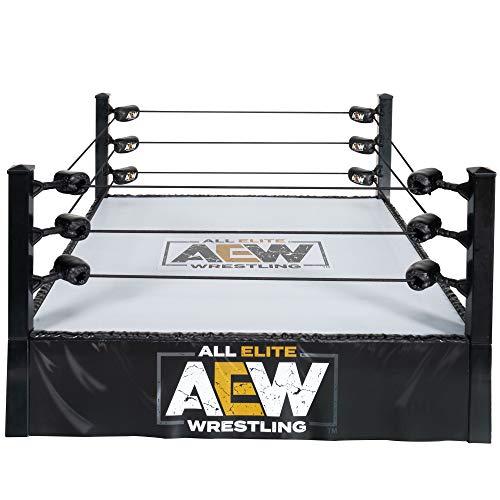 All Elite Wrestling Unrivaled Collection Anillo de acción auténtico, con cuerdas de...