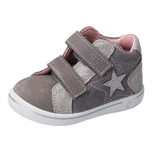 RICOSTA Mädchen Lauflern Schuhe MIA von Pepino, Weite: Mittel (WMS), Freizeit Halbschuh mit Klettverschluss flexibel leicht,Graphit,27 EU / 9 Child UK