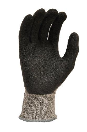 G & F 22600M Cutshield Cut Resistant Level 5 Work Gloves, Rubber Coated, Grey, Medium