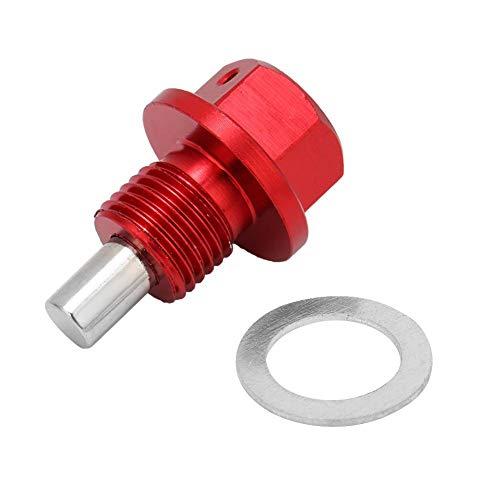 Yctze Coche Cárter de Aceite Perno de Drenaje, M12 * 1.25 Red de Aluminio aleación Coche Motor magnético Cárter de Aceite Perno de Drenaje Tornillo