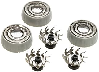 Remington SP-21 Replacement Heads & Cutters for Models MicroFlex R-9100, R-9200, R-9250, R-9300, R-9350 and R-T CT, Silver