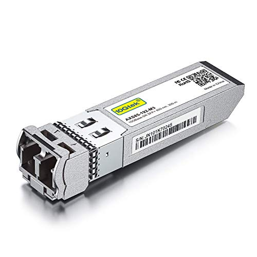 10Gtek per TP-Link SFP+ Multimodale Transceiver TXM431-SR - 10G SFP+ SR Fibra Modulo, Dual LC Connettore, 850nm, 300m