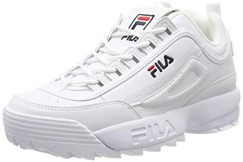 Fila Disruptor Low 1010262-1fg, Zapatillas para Hombre, Bianco (White 1fg), 43 EU