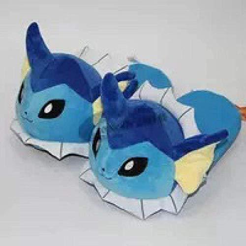 DINEGG Pokemon Biga Super Geng Ghost Halb-Tasche Baumwolle Schuhe Ibe-Familie Capbie kann Ente Wasser Tauchen Fisch Plüsch Hausschuhe Wasser Ibra Sohle Länge 28cm YMMSTORY