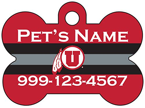 Utah Utes Pet Id Dog Tag | Personalized for Your Pet | Officially Licensed