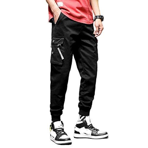 Pantalon de Jogging pour Hommes Pantalon de survêtement Cordon de Serrage décontracté Taille élastiquée Pantalon Cargo ajusté Pantalon d'école Skinny