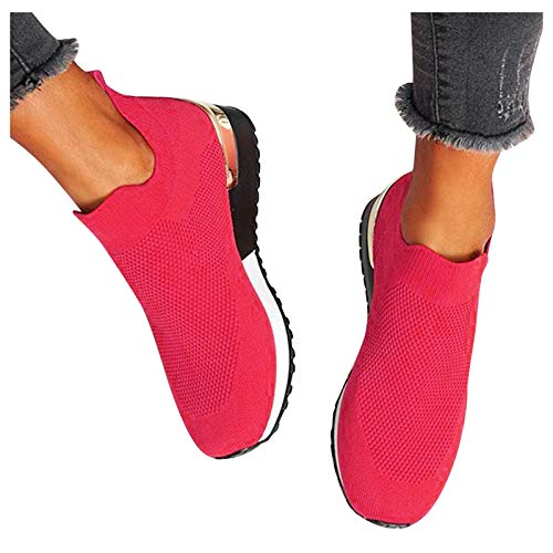 Damen Laufschuhe Sneaker Sport Laufen Mesh Outdoor Flache Sportschuhe Runing Atmungsaktive Turnschuhe Freizeitschuhe Schuhe Wanderschuhe