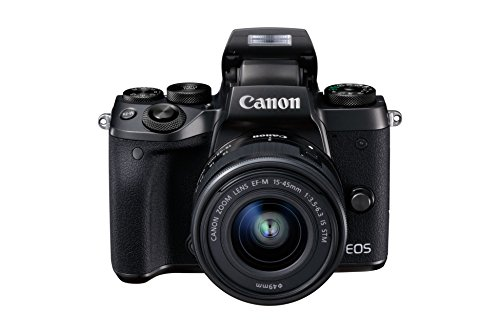 Canon EOS M5 Fotocamera Digitale Mirrorless con Obiettivo EF-M 15-45mm, f/3.5-6.3 IS STM, Nero