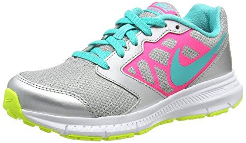 Nike Downshifter 6 (Gs/Ps) - Scarpe da ginnastica donna, colore Multicolore ( Argento / Blu / Rosa /...