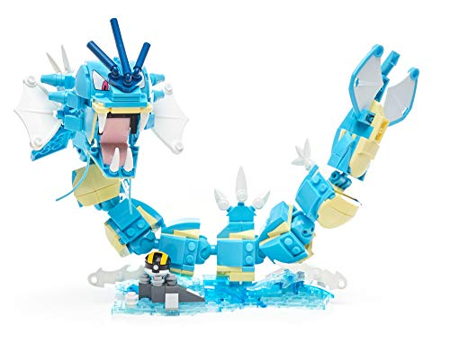 Mega Construx Pokemon Gyarados Construction Set with character figures, Building Toys for Kids 352...