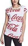 MERCHCODE Ladies Coca Cola AOP tee Camiseta, Mujer, Blanco, Extra-Large