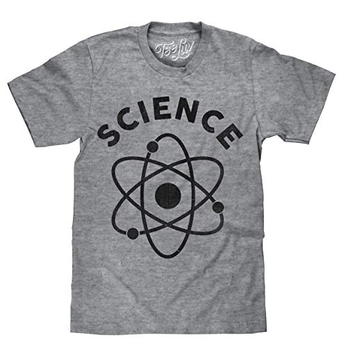 Tee Luv Science T-Shirt - Soft Touch Atom T-Shirt (Graphite Snow Heather) (3XL)
