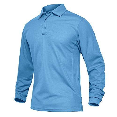 EKLENTSON Hombre Camisas - Polos Militares de Manga Larga Camisetas Deportivas de Golf Camisas Tácticas Ligeras de Secado Rápido
