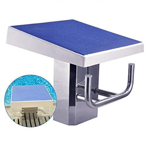 ZAQI Sprungbrett Sprungbretter für unterirdische Pools, kleine Edelstahlbasis, blaues rutschfestes Profil, Last 200 kg (440 lbs)