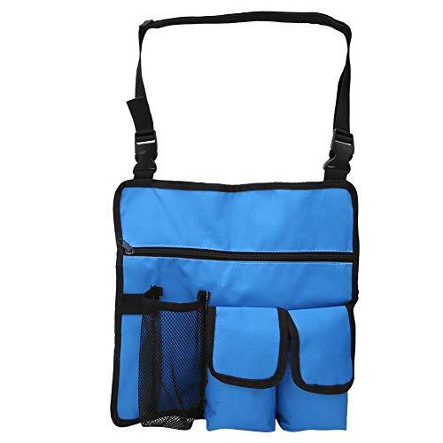 Strandkorftas – praktische en praktische strandkorftas van 600D Oxford-stof voor het opbergen van water en dranken. blauw