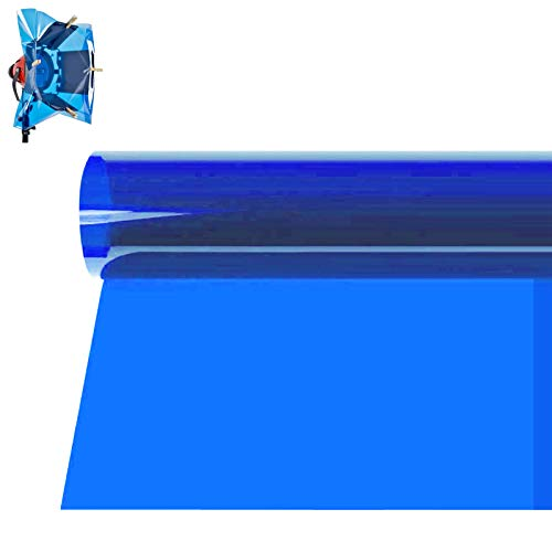 Selens 15.8X19.7inch/40X50cm Gels Color Filter Paper Correction Gel Lighting Filter for Photo Studio Light Red Head Light Strobe Flashlight Blue