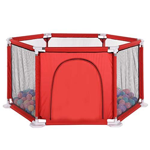 Parc bébé Jeu pour bébé clôture Pliante Kids House clôture à Six côtés Tente Game House Clôture des terrains de Jeux avec Porte pour bébé Jouer tentes sécurité pour Enfants Bambins, 150cm Centre d'a