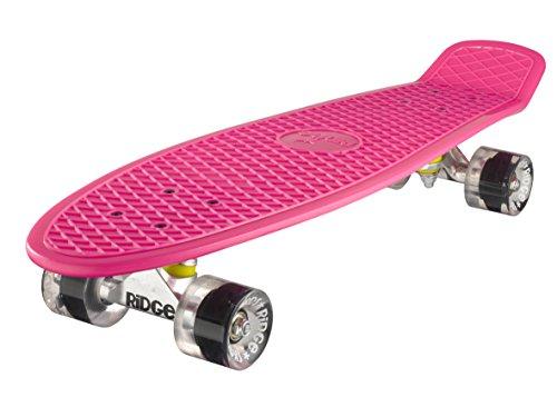 Ridge Skateboard Big Brother Nickel 69 cm Mini Cruiser, rosa/klar