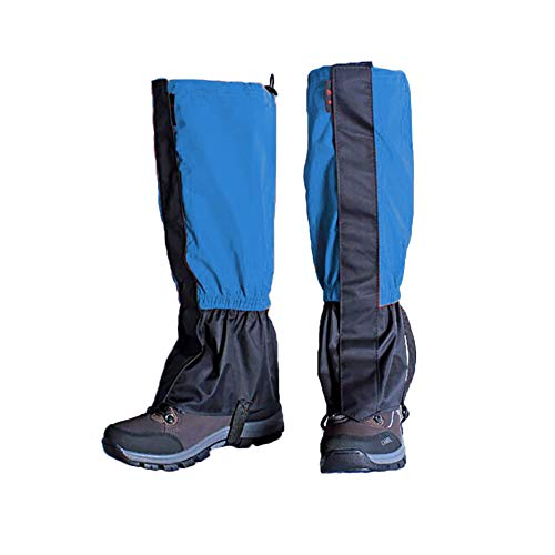 Zhongtou Polainas para Hombre, Impermeables, cálidas, para Mujer, Ligeras, para Senderismo en la Nieve, Polainas para piernas para Caminar, Raquetas de Nieve, Caza, Escalada y Correr (Azul)
