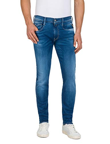 REPLAY Men's Anbass Hyperflex Slim Fit Jeans