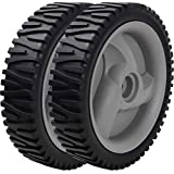 Iococee 583719501 194231X460 401274X460 532402567 532402657 181469 180658 Lawn Mower Wheels Set for Sears Husqvarna Craftsman poulan Roper Front Drive Wheels Grey, 2 Pack