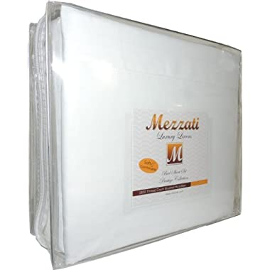 Mezzati Luxury Two Pillow Cases - Soft and Comfortable 1800 Prestige Collection – Brushed Microfiber Bedding (Beige, Set of 2 Standard Size Pillow Cases)