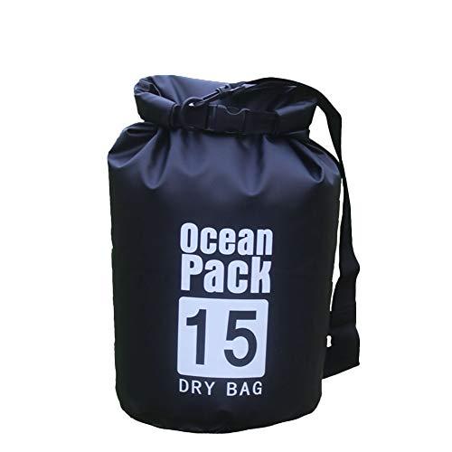 Icegrey Bolsa Seca Impermeable Dry Bag wateroof para Rafting, Kayak navegación Senderismo, esquí, Buceo, Pesca, Escalada, Camping Negro 5L